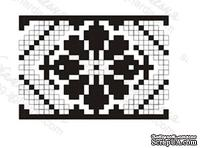 Акриловый штамп F034b Орнамент цветок, размер 3,4 * 2,4 см