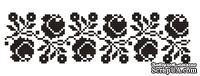 Акриловый штамп F039 Цветочный орнамент, размер 2,6 * 9,4 см