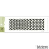 Акриловый штамп Lesia Zgharda F074a Фон Дамаск, размер 10,6х3,5 см.