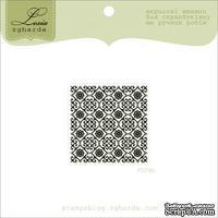 Акриловый штамп Lesia Zgharda F074b Фон Дамаск, размер 3,5х3,5 см.