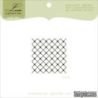 Акриловый штамп Lesia Zgharda F075b Фон Сетка, размер 3,5х3,5 см.