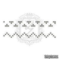 Акриловый штамп Lesia Zgharda F085 Швейные стежки, набор из 4 штампов