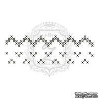 Акриловый штамп Lesia Zgharda F086 Швейные стежки, набор из 4 штампов