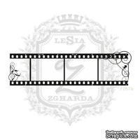 Акриловый штамп Lesia ZghardaF087a Фотопленка с завитками
