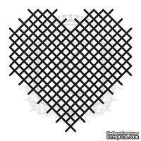 Акриловый штамп Lesia Zgharda F092b Вышитое сердечко, размер 6.5х6.5 см