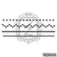 Акриловый штамп Lesia Zgharda F095 Вязаные узоры, набор из 4 штампов