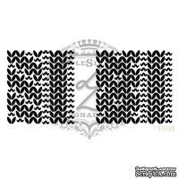 Акриловый штамп Lesia Zgharda F098 Узоры косичка, набор из 2 штампов