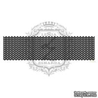 Акриловый штамп Lesia Zgharda F099 Вязание лицевыми петлями, размер 11х2.9 см