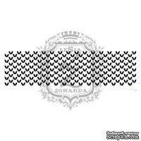 Акриловый штамп Lesia Zgharda F100 Вязание узором рисунок, размер 11х2.9 см
