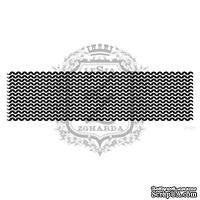 Акриловый штамп Lesia Zgharda F101 Вязание изнаночными петлями, размер 10.8х2.9 см