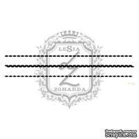 Акриловый штамп Lesia Zgharda F102 Вязаные стежки, набор из 3 штампов