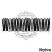 Акриловый штамп Lesia Zgharda F103a Патентная вязка широкая, размер 10.8х2.9 см