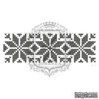 Акриловый штамп Lesia Zgharda F111 Вязаный узор, размер 10.9х3.5 см