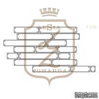 Акриловый штамп Lesia Zgharda F117b ДОШКИ ІЗ ЦВЯШКАМИ КОНТУР, 7х3.4 см.