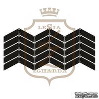 Акриловый штамп Lesia Zgharda F118a ПАРКЕТ ІЗ ЦВЯШКАМИР, 7х3.2 см.