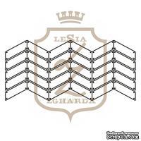 Акриловый штамп Lesia Zgharda F118b ПАРКЕТ ІЗ ЦВЯШКАМИ КОНТУР, 7х3.2 см.