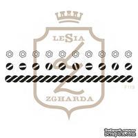 Набор акриловых штампов Lesia Zgharda F119 ГАЙКИ ТА ШУРУПИ, 3 штуки, ширина 7.7 см.