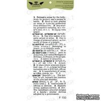 Акриловый штамп Lesia Zgharda F150 Енциклопедичний текст великий, размер 3,5х8,1 см