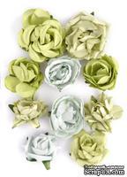 Набор цветов от Kaisercraft - F633, цвет: салатовый, 10 шт.