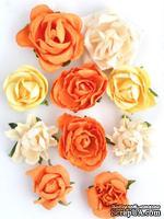 Набор цветов от Kaisercraft - F634, цвет: оранжевый, 10 шт.