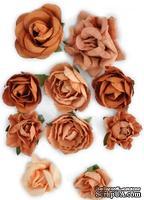Набор цветов от Kaisercraft - F635, цвет: коричневый, 10 шт.