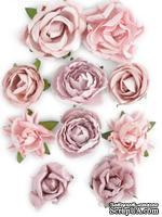 Набор цветов от Kaisercraft - F641, цвет: розовый, 10 шт.