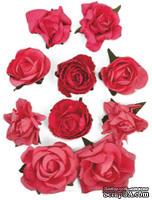 Набор цветов от Kaisercraft - F663, цвет: розовый, 10 шт.
