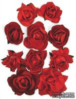 Набор цветов от Kaisercraft - F664, цвет: красный, 10 шт.