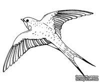 Акриловый штамп Swallow Ласточка, размер 5,2 * 4,3  см