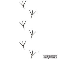 Акриловый штамп FA046 Следы птиц, размер 8,2 * 2,5 см