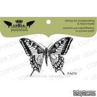 Акриловый штамп Lesia Zgharda FA070 Бабочка, размер 4,9х3,6 см