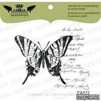 Акриловый штамп Lesia Zgharda FA072 Бабочка с текстом, размер 5х4,1 см