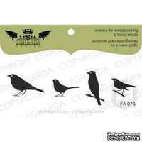 Набор акриловых штампов Lesia Zgharda FA076 Птички, 4 шт
