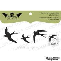 Набор акриловых штампов Lesia Zgharda FA077 Птички в полете, 4 шт