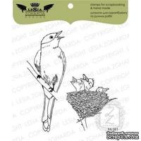 Набор акриловых штампов Lesia Zgharda FA081 Мама-пташка з гніздечком, 2 шт