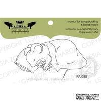 Акриловый штамп Lesia Zgharda FA085 Спящая мышка, 6*3,2 см.
