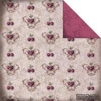 Лист двусторонней скрапбумаги Fabscraps - High Tea Double-Sided Paper - Cherries/Cream & Red, 30х30 см
