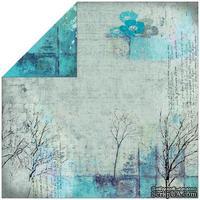 Лист двусторонней скрапбумаги Fabscraps - Rustic Double-Sided Paper - Trees, 30х30 см