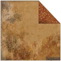 Лист двусторонней скрапбумаги Fabscraps - Rustic Double-Sided Paper - Tracks, 30х30 см