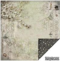 Лист двусторонней скрапбумаги Fabscraps - Rustic Double-Sided Paper - Fly, 30х30 см