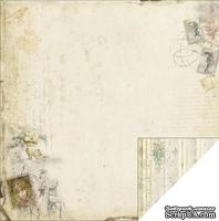 Лист двусторонней скрапбумаги Fabscraps - Marie Antoinette Double-Sided Paper - Garden, 30х30 см