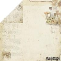 Лист двусторонней скрапбумаги Fabscraps - Marie Antoinette Double-Sided Paper - Perfumes, 30х30 см