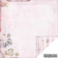 Лист двусторонней скрапбумаги Fabscraps - Marie Antoinette Double-Sided Paper - Pink Carriage, 30х30 см