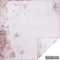 Лист двусторонней скрапбумаги Fabscraps - Marie Antoinette Double-Sided Paper - Purple High Tea, 30х30 см