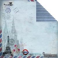 Лист двусторонней скрапбумаги Fabscraps - Romantic Travel Double-Sided Paper - Travel Culture 1, 30х30 см