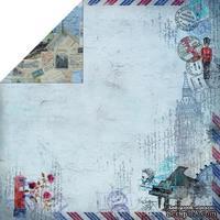 Лист двусторонней скрапбумаги Fabscraps - Romantic Travel Double-Sided Paper - Travel Culture 2, 30х30 см