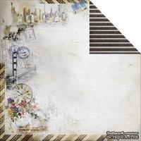 Лист двусторонней скрапбумаги Fabscraps - Romantic Travel Double-Sided Paper - Travel Large 1, 30х30 см