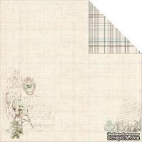 Лист двусторонней скрапбумаги Fabscraps - Baby Bear Double-Sided Cardstock - Bunny Bear 1, 30х30 см