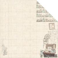 Лист двусторонней скрапбумаги Fabscraps - Baby Bear Double-Sided Cardstock - Bunny Bear 2, 30х30 см