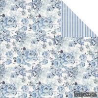 Лист двусторонней скрапбумаги Fabscraps - Shabbylicious Double-Sided Cardstock - Shabby Blue, 30х30 см